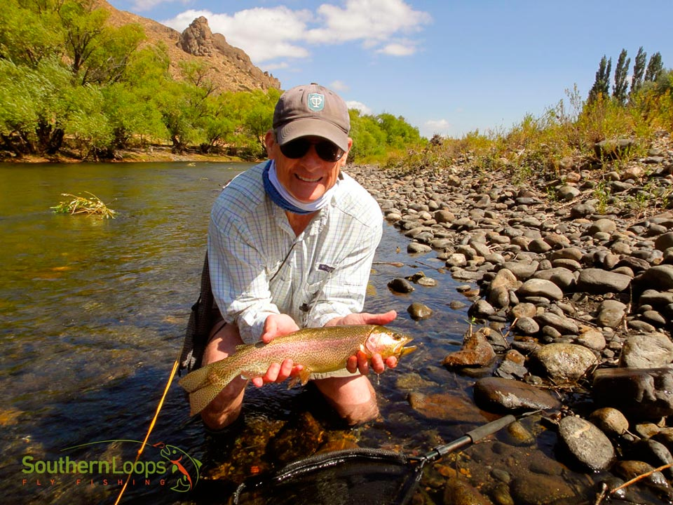 The finest dry fly fishing on the upper Malleo River
