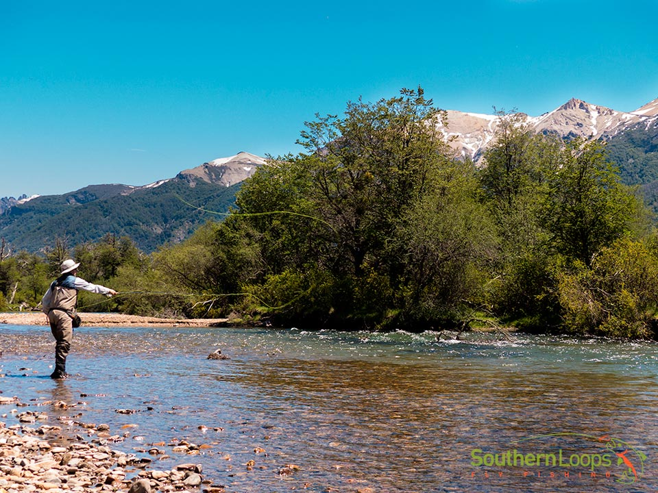 Fly fishing the Challenging Filo Hua Hum River - Patagonia Argentina