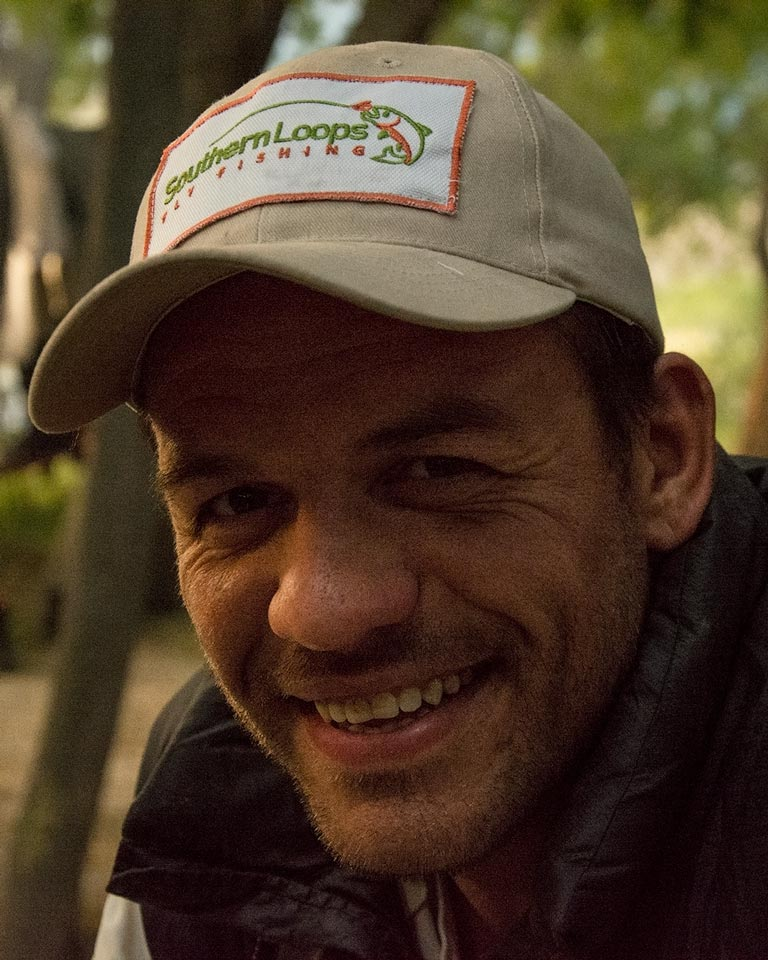 Mauro, our camp manager, makes each riverside camp trip a trully and unique Patagonian experience.