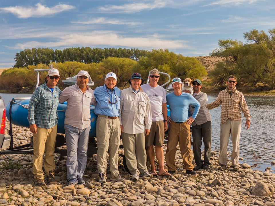 Happy group from San Diego - USA, ending one more successful trip with SouthernLoops Fly Fishing.
