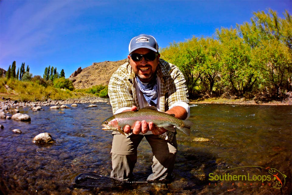 fatty rainbow trout on a small BWO